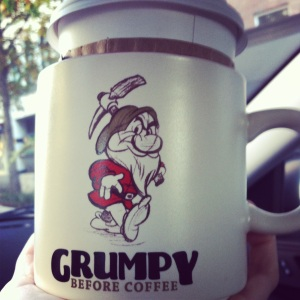"Dan's ""Mr Grumpy Pants"" in the morning"